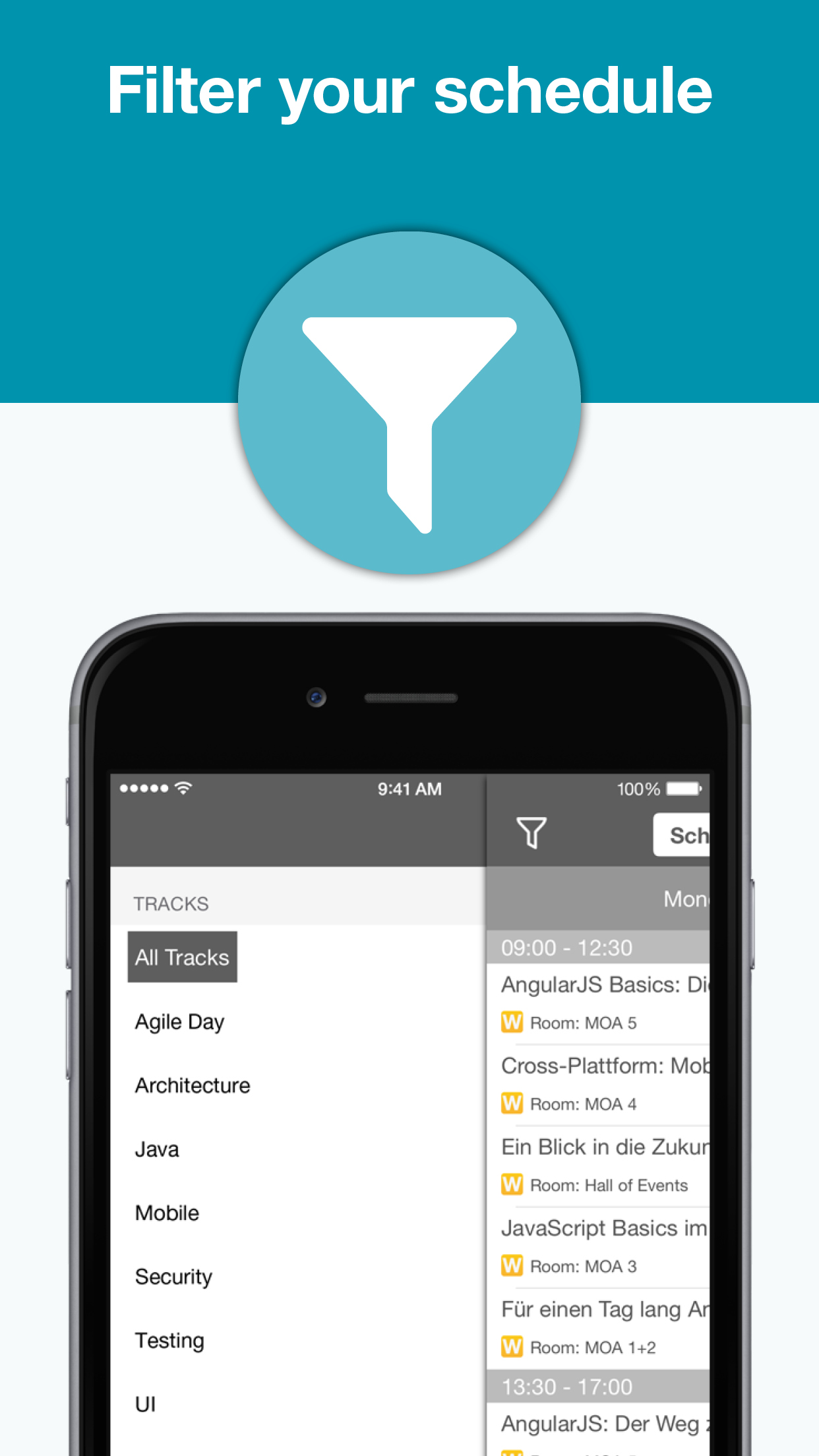 JAX DevOps JAX Finance mobile app